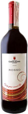 Вино Cantina Castelnuovo del Garda Vino Rosso 0.75 л красное полусладкое 11%