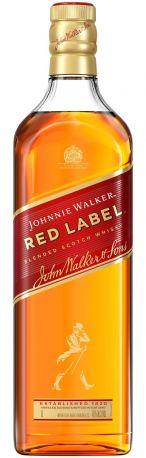Виски Johnnie Walker Red Label выдержка 4 года 1 л 40%