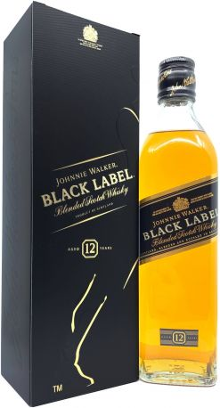 Виски Johnnie Walker Black label 12 лет выдержки 0.5 л 40%