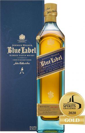 Виски Johnnie Walker Blue label выдержка 25 лет 0.75 л 40% в подарочной упаковке - Фото 1