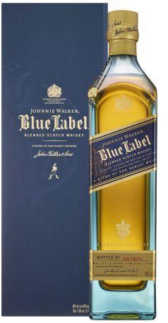 Виски Johnnie Walker Blue label выдержка 25 лет 0.75 л 40% в подарочной упаковке - Фото 2