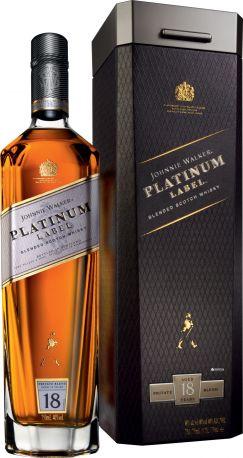 Виски Johnnie Walker Platinum Label 18 лет выдержки 0.7 л 40% в подарочной упаковке